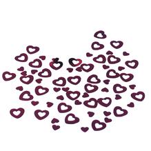 Kunststoff Pailletten Herzen, 6 + 13 mm, Dose 5g, rot