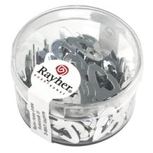 Kunststoff Pailletten Jubiläum 25, 8mm, Dose 4g, silber