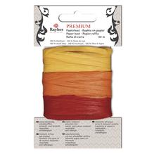 Premium Papierbast, aus 100% Holzfaser, je Fb.10m, Karte 30m, gelb/orange/rot