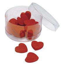 Filz-Herz, 2cm, Box 20Stück, rot