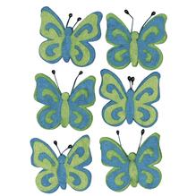 Filz-Schmetterling, 5cm, SB-Btl 6Stück, h.blau