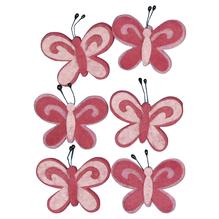 Filz-Schmetterling, 5cm, SB-Btl 6Stück, pink