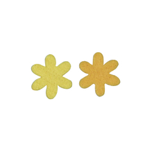 Filz-Sternblume, 3 cm, 2 Farben, SB-Btl. 12 Stück, gelb/orange