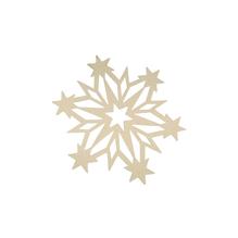 Filz-Schneeflocke, 14,5x0,4cm, SB-Btl 1Stück, weiß