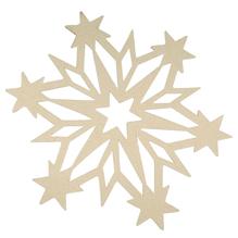 Filz-Schneeflocke, 27x0,4cm, weiß