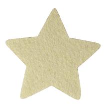 Filz Stern, 10x0,4cm, SB-Btl 4 Stück, creme