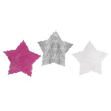 Vlies-Stern, 5 cm, SB-Btl. 144 Stück, 3 Farben