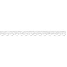 Spitzenbordüre, 10mm, 100% Baumwolle, weiß