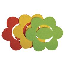 Filz Manschette für Servietten Blume, 13,5x13,5x0,2cm, 3 Farben, SB-Btl 6Stück