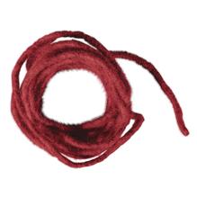Wollkordel mit Jutekern, 5mm ø, SB-Btl 3m, rot