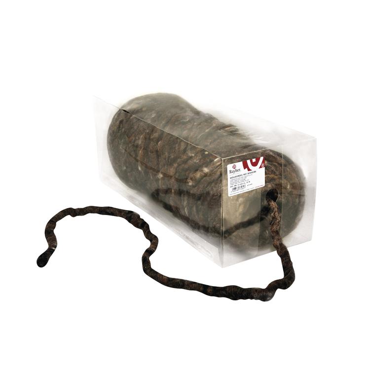 Wollkordel mit Jutekern, 8mm ø, Rolle 75m, d.braun