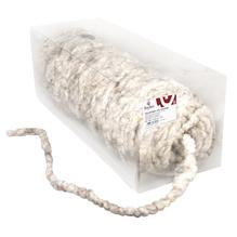 Wollkordel mit Jutekern, 8mm ø, Rolle 75m, grau