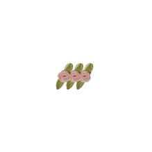 Röschen auf Schleife, 10mm ø, auf Karte, SB-Btl 20Stück, rosé