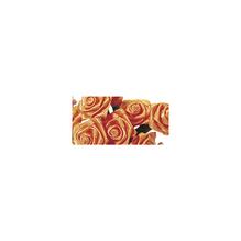 Satinröschen, 12mm ø, handgedreht, Bund 12Stück, orange