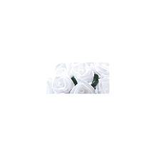 Satinröschen, 8 mm ø, Bündel 12 Stück, handgedreht, weiß