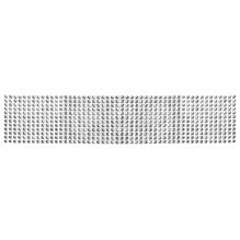 Dekoband aus Strasssteinen, 6cm, 12 Reihen, Rolle 3m, silber