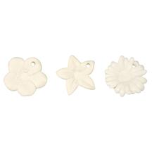 Porzellanblumenset zum Hängen, matt, 3,5 cm Blisterbox 3 Stück
