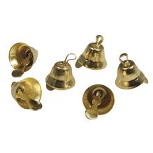Metall Glöckchen, 1,5x1cm, mit Öse, SB-Btl 24Stück, gold