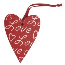 Holz Hänger Love, 5cm, Aufhänger 5cm, SB-Btl 3Stück
