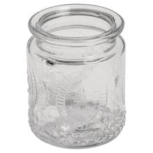 Glas-Gefäß Vintage, 7,5x9cm, Öffnung ø 5,5cm, 270ml