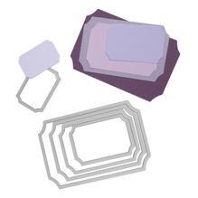 Sizzix Framelits Schablonen-Set, Tickets, SB-Blister 5Stück, 3,2x4,8cm, 7,6x11,8cm