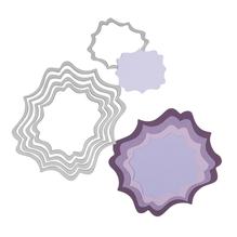 Sizzix Framelits Schablonen-Set, Lables, SB-Blister 5Stück, 6x7,3cm, 11,1x10,2cm