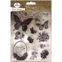 Clear Stamp Butterfly, 1-7,3cm, SB-Btl 15Stück
