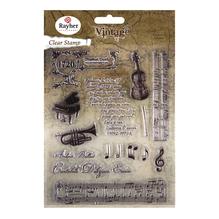 Clear Stamps - Vintage Musik, ca. 1-12,5cm, SB-Btl