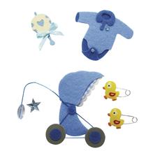 Deko-Sticker: Baby Junge, m. Klebepunkt, SB-Btl 6Stück