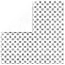 Scrapbookingpapier Double Dot, 30,5x30,5cm, 190g/m2, weiß