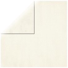Scrapbookingpapier Double Dot, 30,5x30,5cm, 190g/m2, vanille