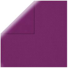 Scrapbookingpapier Double Dot, 30,5x30,5cm, 190g/m2, rotlila