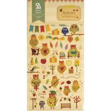 Sticker Autumn, 15x9,2cm, Epoxy, SB-Btl 1Bogen