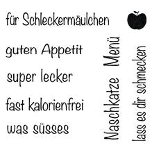 Clear Stamp Schleckermäulchen, 96,5x91x3,2mm