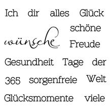 Clear Stamp Wünsche, 96,5x91x3,2mm
