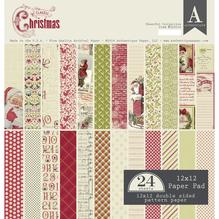 Scrap-Block sort. Classic Christmas, 30,5x30,5cm, 190g/m2, Block 24Blatt