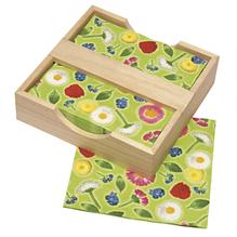 Holz-Servietten-Box, 18,5x18,5x4 cm - wurde ersetzt durch: 62404000