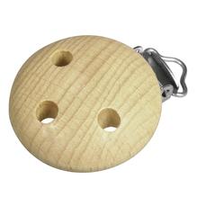 Holz Clip FSC 100%, 37mm ø, 3 Loch, SB-Btl 1Stück, natur