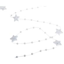 Deko-Girlande Sterne, 180cm, SB-Btl 1Stück, weiß