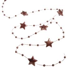 Deko-Girlande Sterne, 180cm, SB-Btl 1Stück, dunkelbraun