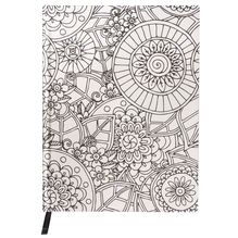 Tangle Notizbuch Flora,FSC Mix Credit, 15,9x20,9cm, 80 Blatt, 110g/m², weiß