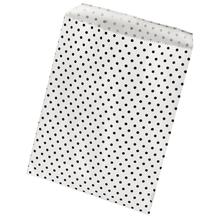 Papiertütchen Lebensmittelecht, weiß mit Punkten, SB-Btl 25Stück, 12,9x16,8cm