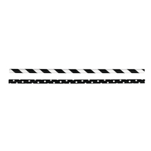 Papiertrinkhalme Lebensmittelecht, schwarz Streifen/Punkte, SB-Btl 25Stück