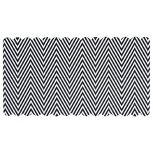 Lasche zum Verschließen v. Papiertütchen, schwarz/weiß gezackt, SB-Btl 10Stück
