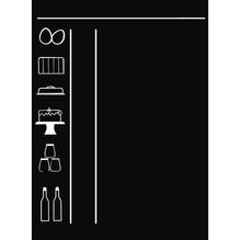 Wand-Decor-Sticker: Tafel, 35x50 cm, SB-Rolle 1 Bogen , schwarz