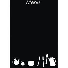 Wand-Decor-Sticker: Menütafel, 35x50 cm, SB-Rolle 1 Bogen , schwarz