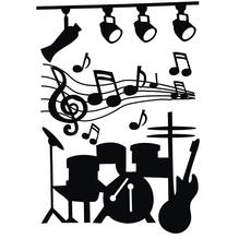 Wand-Decor-Sticker: Music, 74x51 cm, SB-Rolle 1 Bogen , schwarz