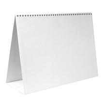 Papp-Aufstellkalender , 30,5x22 cm, 1 Stück im Beutel, weiß
