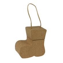 Pappmaché Box-Mini Stiefelanhänger , 6x6x3,5 cm, 1 Paar