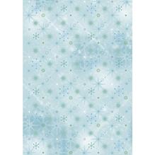 Karte A4 Eiskristalle, 210x297mm, 220 g/m2, Blautöne